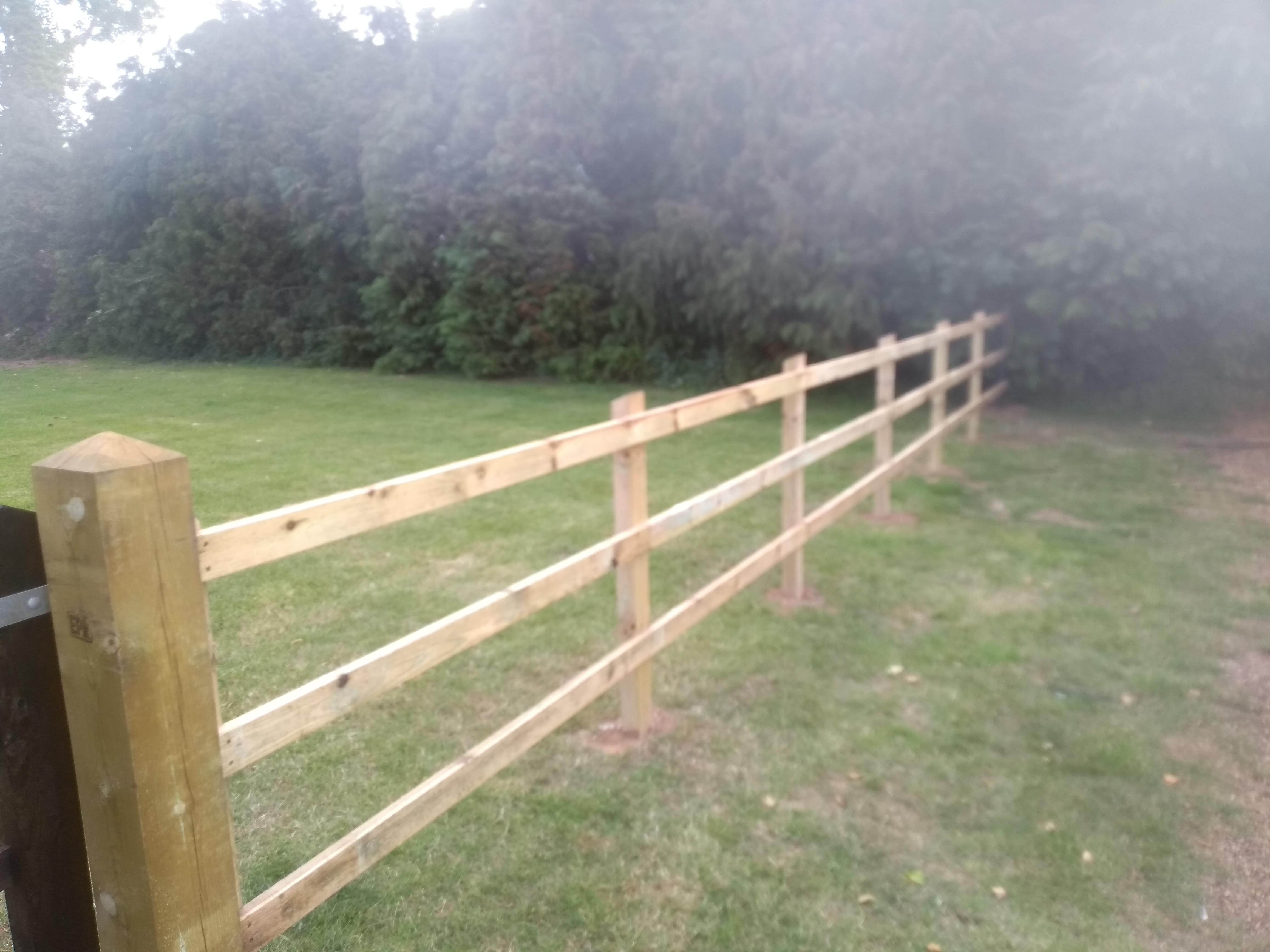 Post and rail fence at Ludham caravan Park | Innovative ...